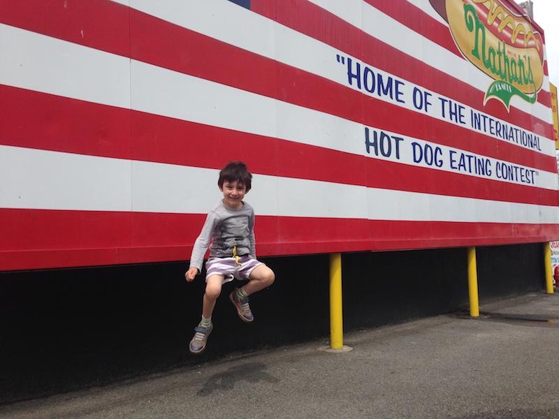 Coney Island Nathan's Hot Dog Jump