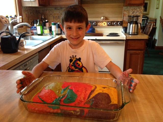 mealoftheweek vanilla rainbow birthday cake