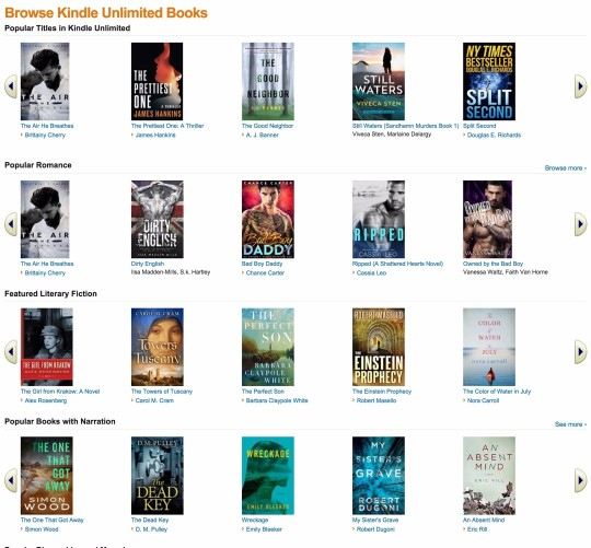 Popular Titles in Kindle Unlimited