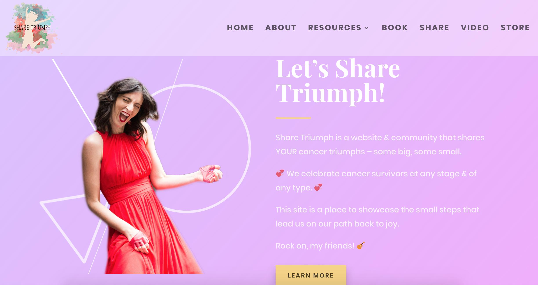 ShareTriumph.com website screenshot