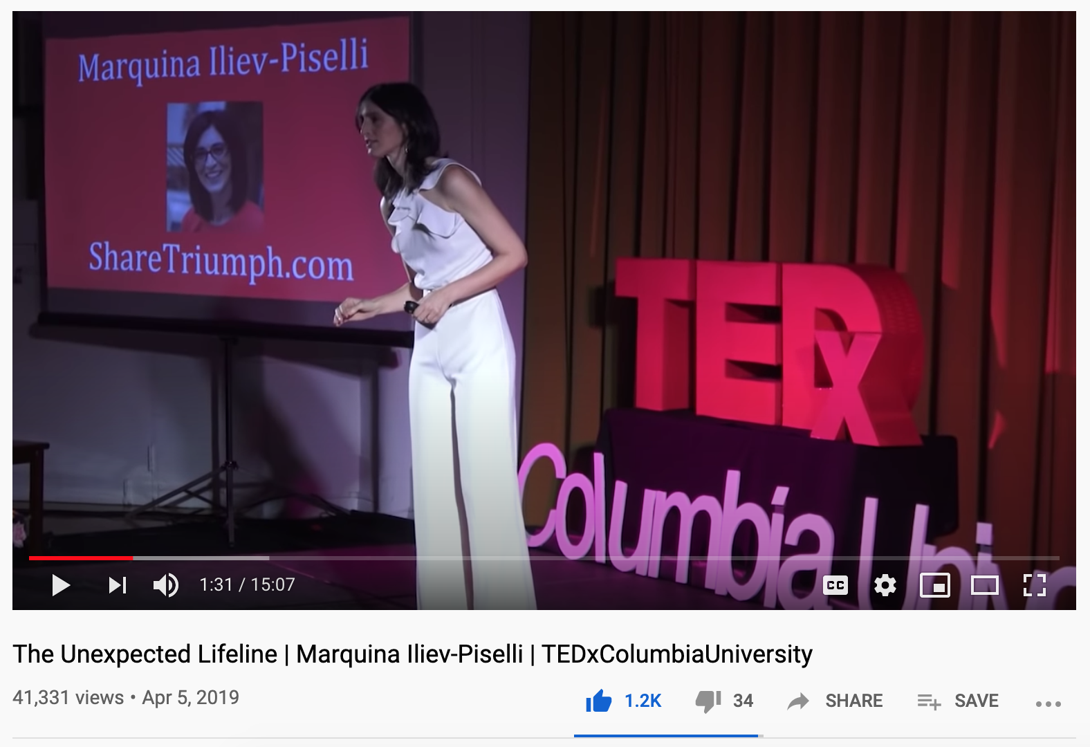 Marquina at TEDx Columbia University